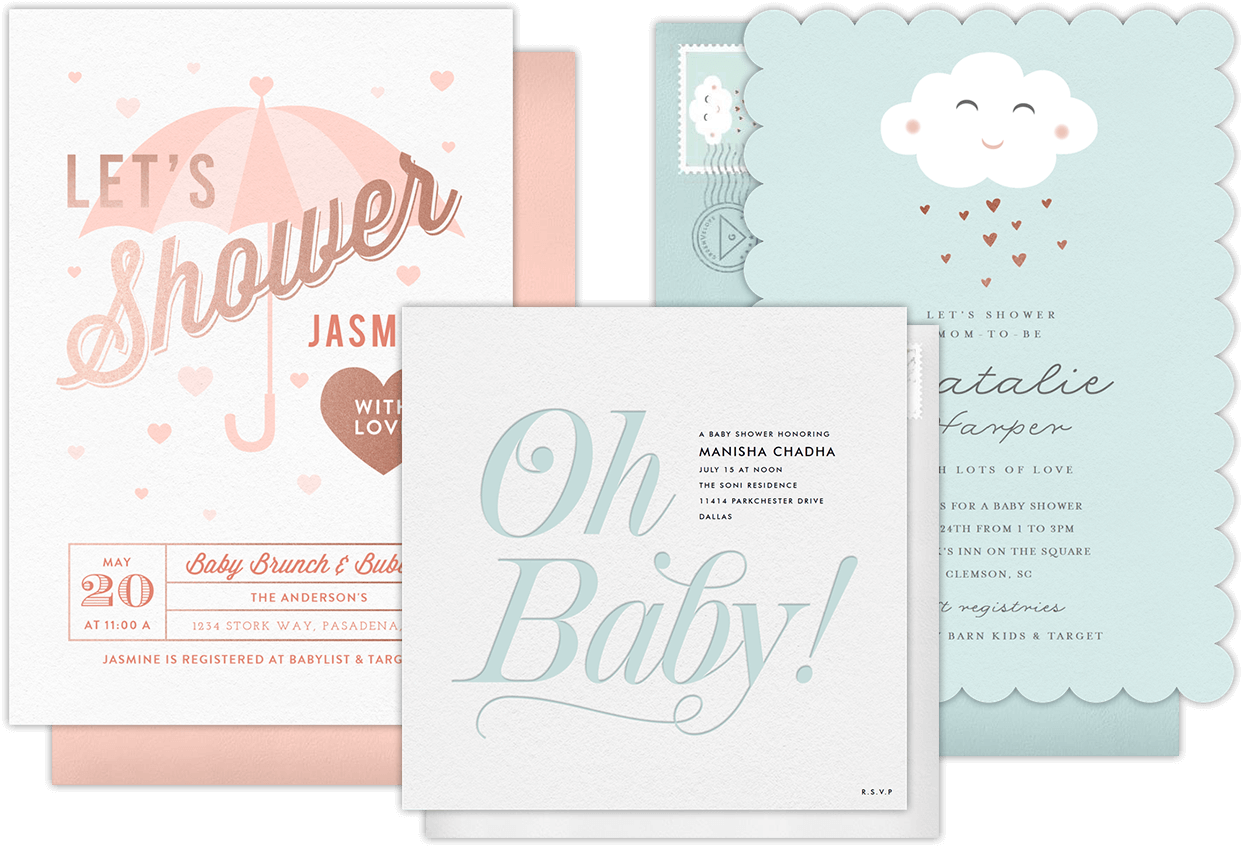 email online baby shower invitations that wow