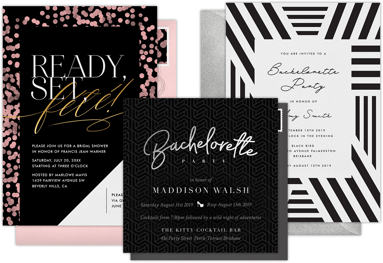 Email Online Bachelorette Party Invitations that WOW! | Greenvelope.com
