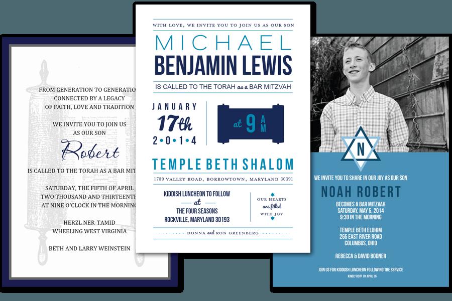 Bar Bat Mitzvah Invitations