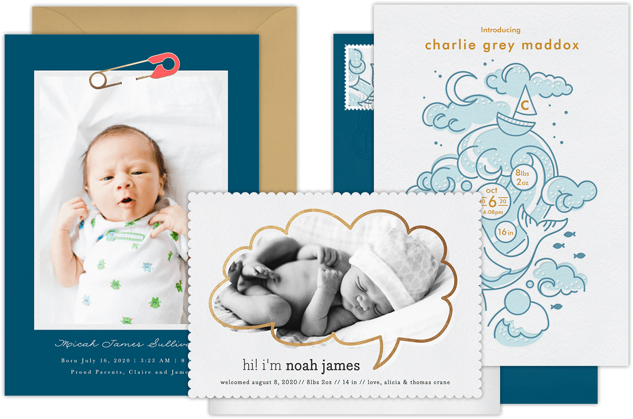 birth announcement template free online - email online birth announcements that wow