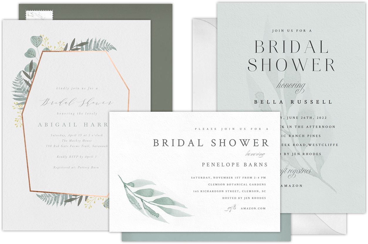 Email online bridal shower invitations that wow for Online wedding shower invitations