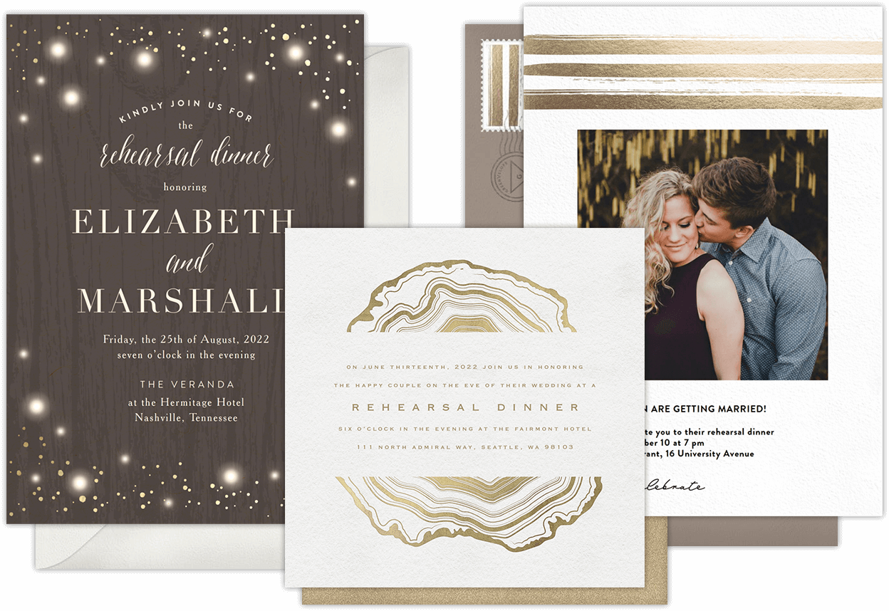 Email Online Rehearsal Dinner Invitations That Wow