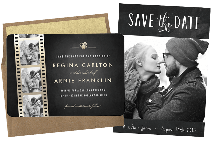 Email online wedding save the dates that wow for Online save the date template free